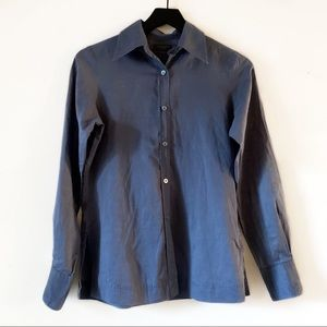 Ted Baker | Steel Blue Button Up Long Sleeve Top 2